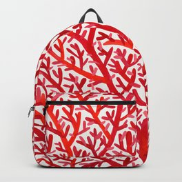 Red Fan Coral Backpack