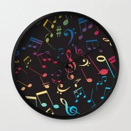 Musical Notes X Wall Clock