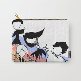 World Dancers on Pastel Rainbow Carry-All Pouch