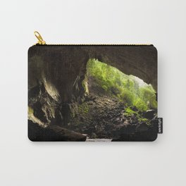View from inside deer cave in gunung mulu national park looking outside Carry-All Pouch