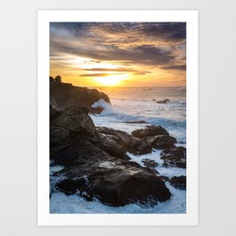 Cape Arago Sunset Art Print