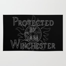 Protected by Sam Winchester Rug
