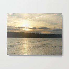 Sunset Lake photography landscape Metal Print