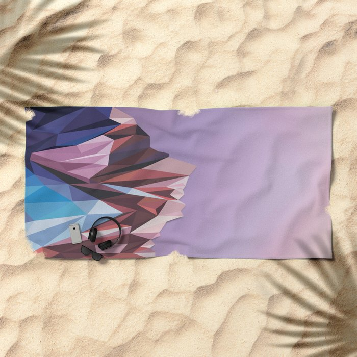 Night Mountains No. 41 Beach Towel