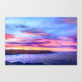 Biscay Bay sunset Canvas Print