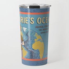 MARIE'S OCEAN Marie Tharp Maps the Mountains Under the Sea by Josie James Travel Mug