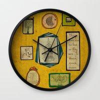 frames Wall Clocks featuring Frames by Duru Eksioglu