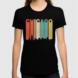 Retro 1970's Style Chicago Illinois Skyline T-shirt