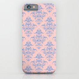 Damask Pattern | Vintage Patterns | Rose Quartz | Serenity | Pantone Colors of the Year 2016 iPhone Case