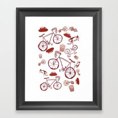 Bikes and Coffee Framed Art Print