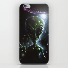 The Visitor from the Stars iPhone Skin