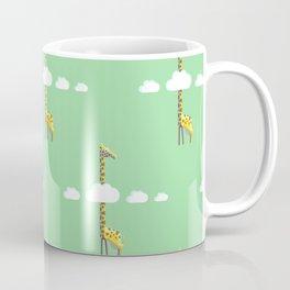 Giraffe with head in the clouds Coffee Mug
