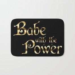 Labyrinth Babe With The Power (black bg) Bath Mat