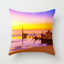 Shipwreck SS Dicky Rainbow Throw Pillow