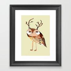 owl print, owl illustration, owl art, owl  Framed Art Print