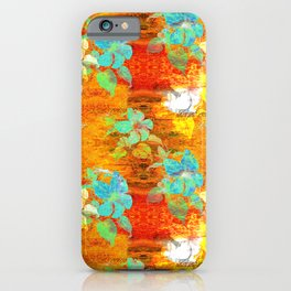 FLORAL PSYCHEDELIC COLORS PATTERN iPhone Case
