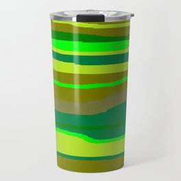 Green Multi Brush Strokes Travel Mug