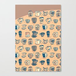 Coffee & Tea & Butts Canvas Print