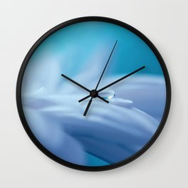 Lonely droplet on a daisy in blue  on #Society6 Wall Clock