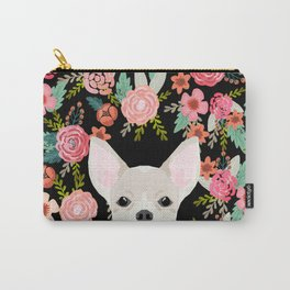 Chihuahua face floral dog breed cute pet gifts pure breed dog lovers chihuahuas Carry-All Pouch
