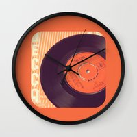 record Wall Clocks featuring Vintage Record  by secretgardenphotography [Nicola]