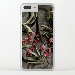 "Peonies are beautiful from the ""bud to to the end."" Clear iPhone Case"