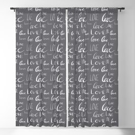 Words of Love // Smoky Grey Blackout Curtain