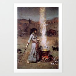The Magic Circle by John William Waterhouse Art Print