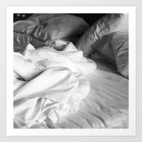 bed Art Prints featuring Bed by ZenaZero