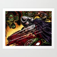 tmnt Art Prints featuring TMNT by Iggycrypt