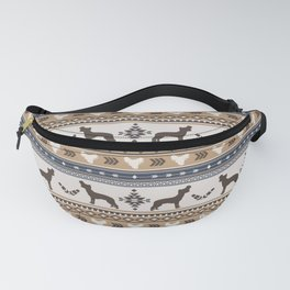 Boho dogs | Chinese crested dog tan Fanny Pack