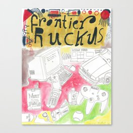 """Open It Up"" / Frontier Ruckus Song Illustrations, Series 2 (2/3) Canvas Print"
