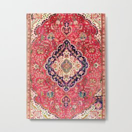 Tabriz Antique Persian Rug Print Metal Print