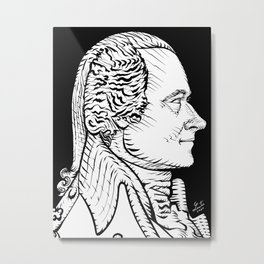 ALEXANDER HAMILTON ink portrait Metal Print
