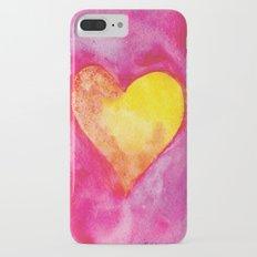 Golden Heart Watercolor Valentine iPhone 7 Plus Slim Case