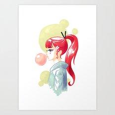 Bubblegum Art Print