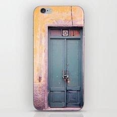 Knock on my door, please! iPhone & iPod Skin