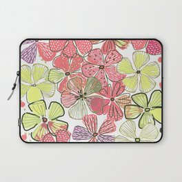 Pink Hibiscus Laptop Sleeve
