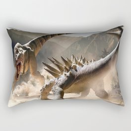 Dinosaurs Jurassic fighting Rectangular Pillow
