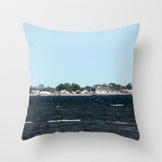 Distant Town Throw Pillow