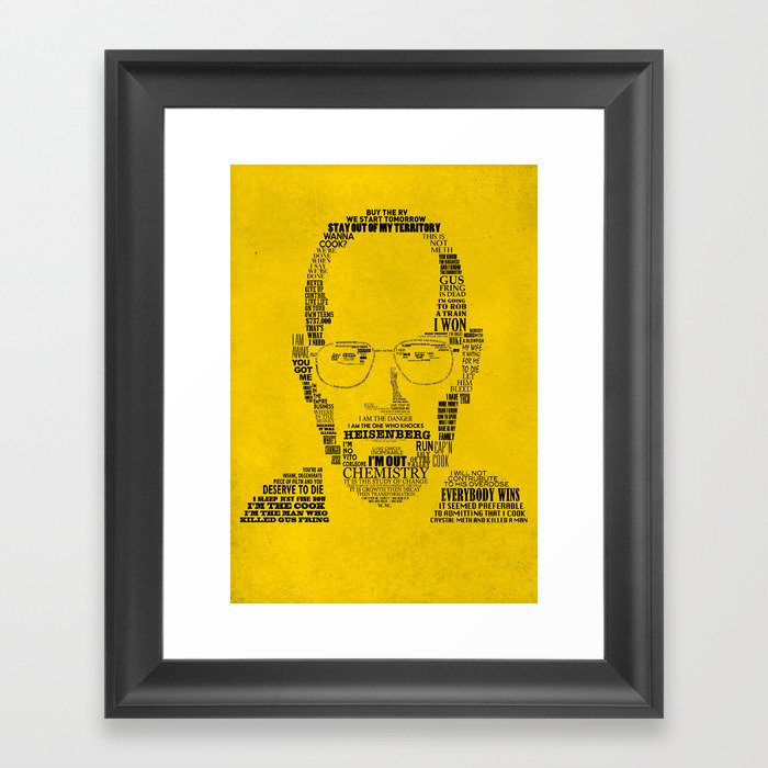 Breaking Bad:  Walter White Framed Art Print