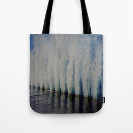Lake Michigan Natural Fountains #4 (Chicago Waves Collection) Tote Bag