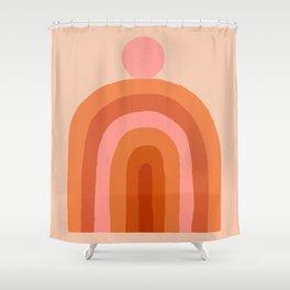 Abstraction_SUN_Rainbow_Minimalism_009 Shower Curtain