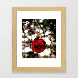Simple Christmas bulb Framed Art Print