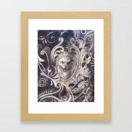 Gothic Lion Framed Art Print
