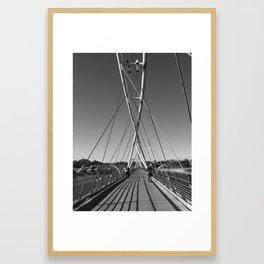 Tempe Town Lake Foot Bridge Framed Art Print