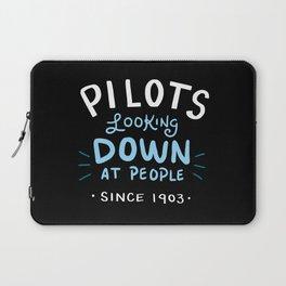 Aerospace Engineer Gift: Pilots Looking Down On People Laptop Sleeve