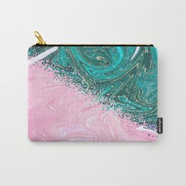 Abstract Texture Pattern 01 – Pink & Turquoise Carry-All Pouch