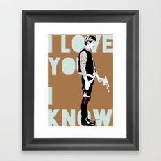 I know Framed Art Print