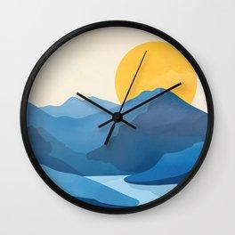 Minimalistic Landscape 10   Wall Clock